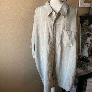 Big Men's Button Down ShortSleeve Dress Shirt 3X